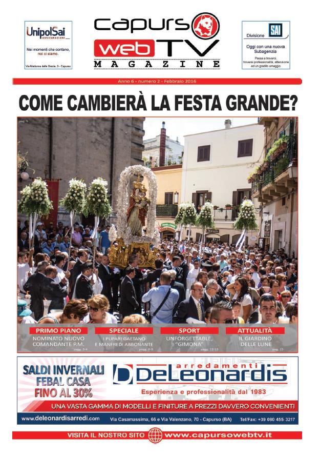 Capurso Web Tv Magazine n°2 anno 6
