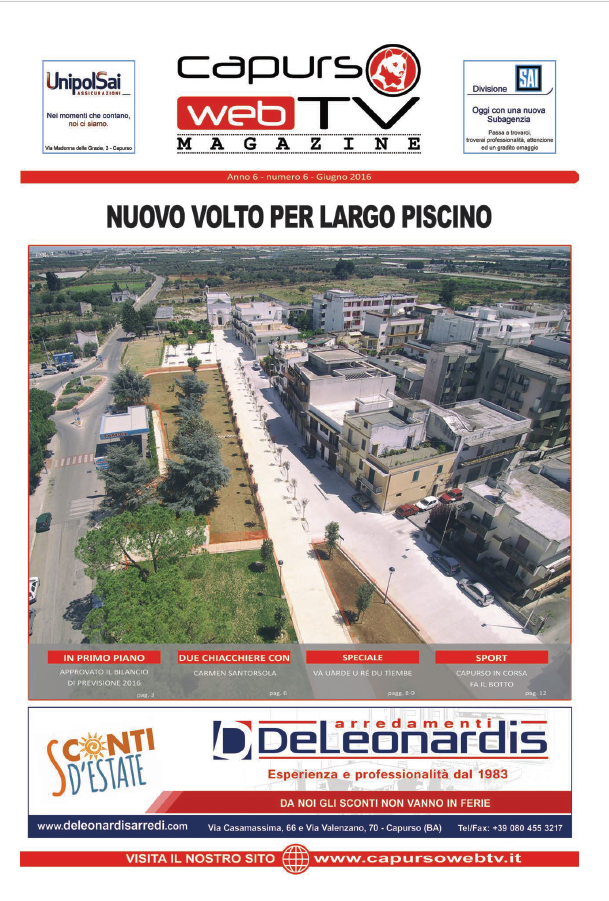 Capurso Web Tv Magazine n°6 anno 6
